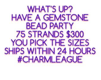 75 Strands Mixed Gemstones Strands