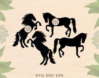 Horse monogram svg Horses svg horses Eps horses Dxf Horse svg horse dxf Girl svg Cricut downloads Cricut files Silhouette files Silhouette