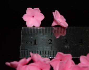 Lilac. 10 pcs. Tiny Pink Spring flower Handmade spring flower Blooming Flowers Handmade clay flower Spring flower.