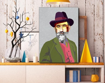 Tribute To George Bernard Shaw personalized framed pop art gift for book lovers wallart gift for women for men for friends prints gift ideas