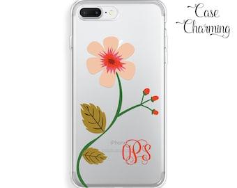 iPhone 7 Case Clear iPhone 7 Plus Case Floral iPhone 6 Case Flowers iPhone 6s Case Monogram iPhone 5s Case iPhone 6 Plus Case iPhone SE Case