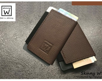 Skinny Wallet - handmade leather holder - wallet of credit cards and money