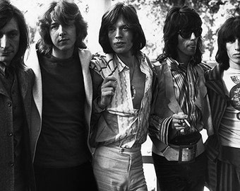 The Rolling Stones – John Lennon - Rolling Stones Poster - Rolling Stones Art – Rolling Stones Print – Rock & Roll - 11x17 (JS0910)