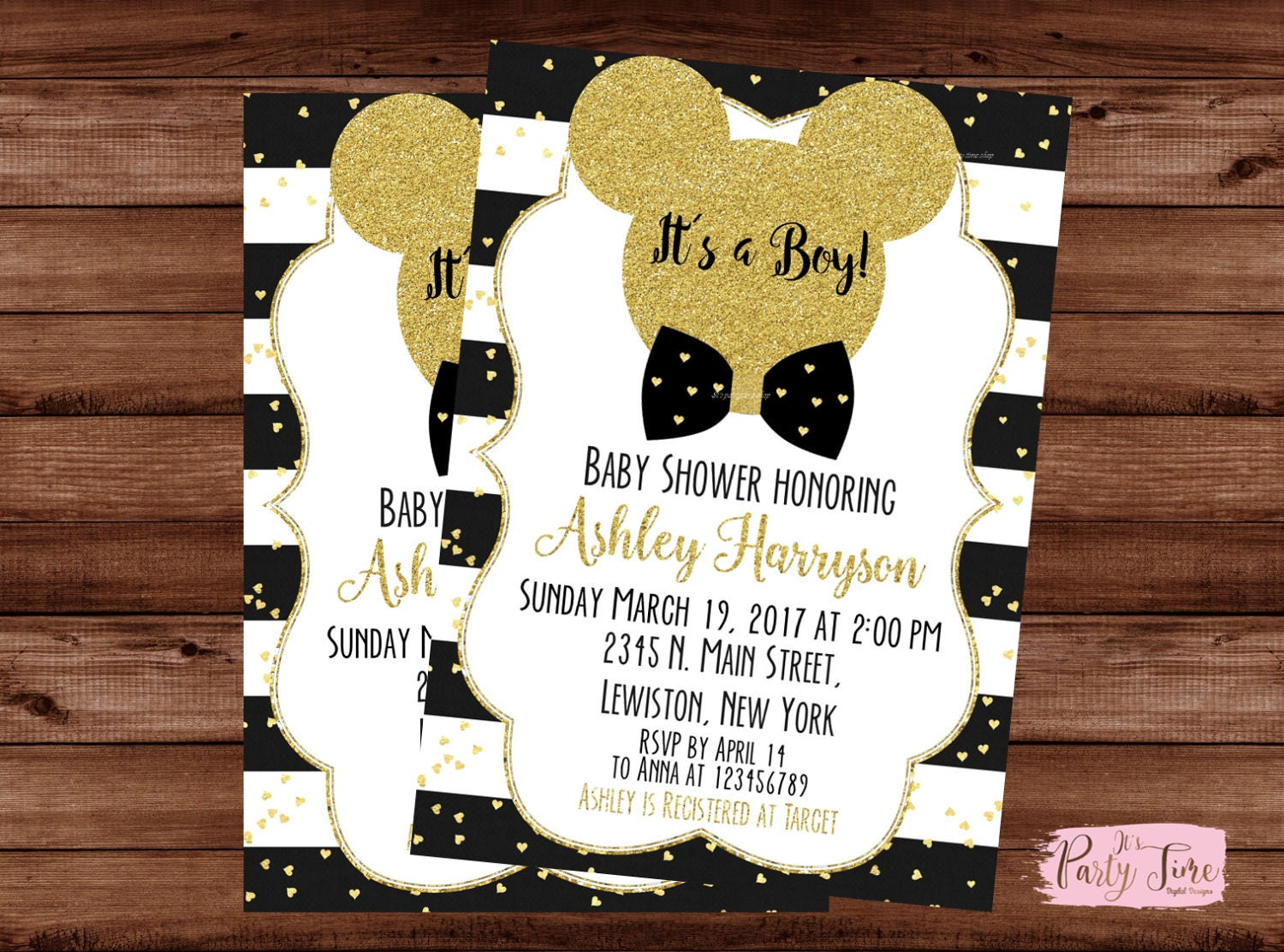 Mickey Mouse Baby Shower Invitations - Its a boy Invitation - Mickey ...