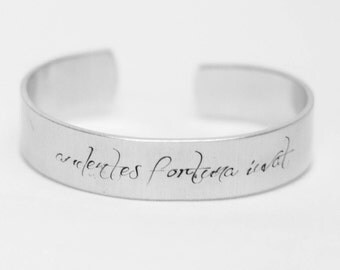 Audentes Fortuna Iuvat / Fortune Favors The Brave / Latin Quote Jewelry / Inspirational Jewelry / Inspirational Bracelet