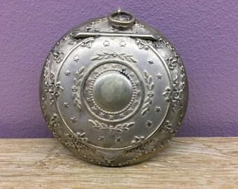 Compact - antique silver pendant
