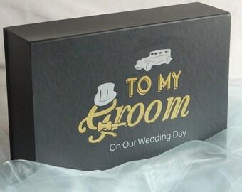 Groom Box, Groomsmen Gifts, Groom Wedding Gift, Groom Gift Box - To My Groom On Our Wedding Day
