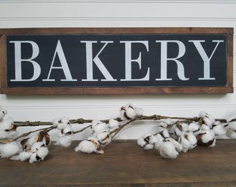 Bakery Sign - Wood Signs - Wooden Signs - Kitchen Decor - Kitchen Signs - Kitchen Wall Art - Farmhouse Sign - Rustic Decor
