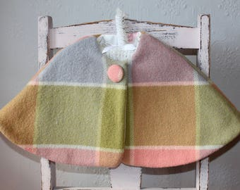 vintage upcycled woollen cape - girls size 1