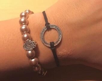 "KARMA - what goes around comes around"" Bracelet"