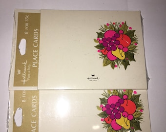 Vintage Placecards by Hallmark- 12 Cards Each in Two Packages - #89B