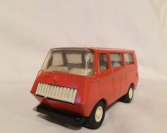 Vintage mini orange tonka van- 1970's pressed metal