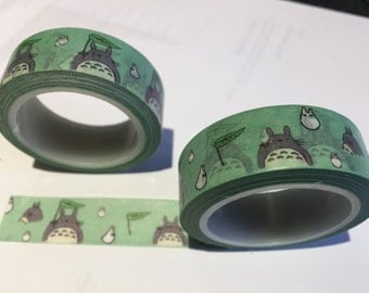 Totoro Japenese Washi Tape - Decorative sticky craft roll