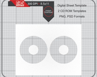 CD DVD Blank Template Instand Download, Make Your Own Template Png and Psd Formats