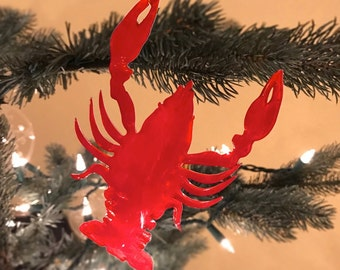 Christmas Crawfish Ornament