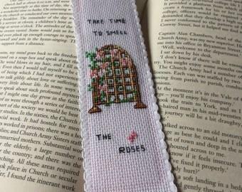 Bookmark - Rose trellis
