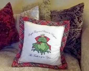 Frog Princess - pillow