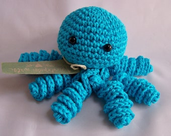crochet octopus rattle ( different colours)