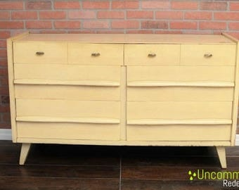 Pick your color! - Blonde Mid Century Modern Permanized Mengel Six Drawer Dresser
