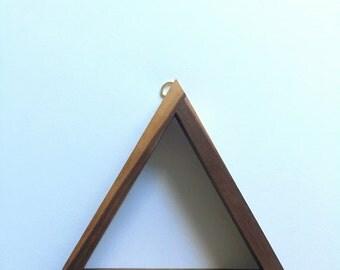 Walnut Triangle Shelf