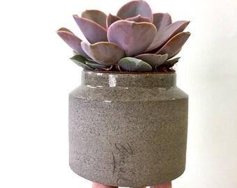 Ceramic planter, Succulent planter, Indoor planter, Plant pot, Small planter, Decorating planter, Gray planter, Modern planter, small pot