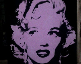 Acrylic Painting Marilyn Monroe (your choice of image) 16 x 20 - free shipping