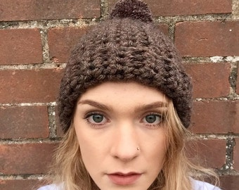 Chunky crochet bobble hat