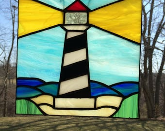 Lighthouse, Suncatcher, Stained glass