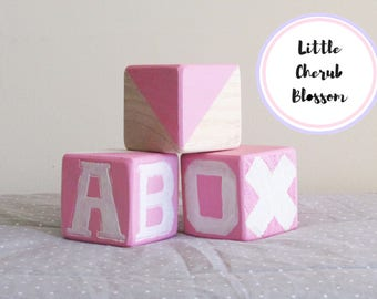 Wooden Blocks, Baby Blocks, Nursery Decor, Bedroom Decor, Decorative Blocks, Custom Blocks Sets