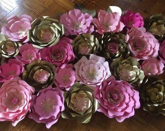 Paper Flowers Set of 25 flowers