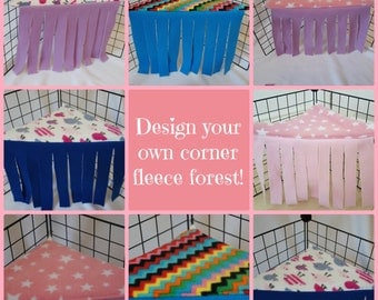 Corner Fleece Forest for guinea pigs |  CUSTOM ORDER