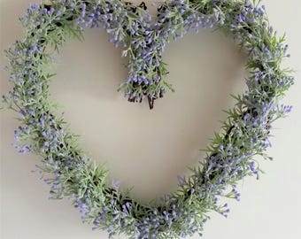 Frosted Heart Grapevine Wreath