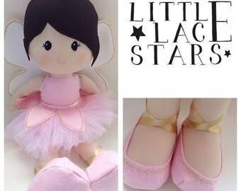 Handmade doll, large doll, fairy doll, large fairy doll, brunette doll