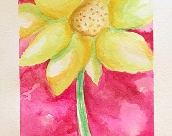 Watercolor painting of a flower - original painting by Stephanie Riely