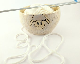 Yarn Bowl - Knitting supplies - Knitting Bowl - Crochet Bowl - Sheep Yarn Bowl - Unique Yarn Bowl - Ceramic Knitting Bowl
