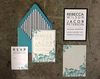 modern typographic WEDDING SUITE