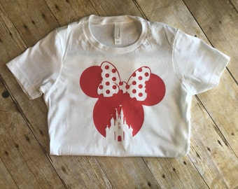 Disney shirt-minnie mouse shirt-womens disney shirt-disney shirt for girls-princess shirt-birthday gift-bridal showern disney