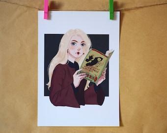 Luna Lovegood Harry Potter Print A5