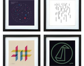 Gogo Penguin - Framed Album Art - Set of 4 Images