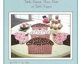 Cupcake Party Table Runner and Placemat Pattern