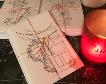 Greeting cards - set of 3 - with envelopes