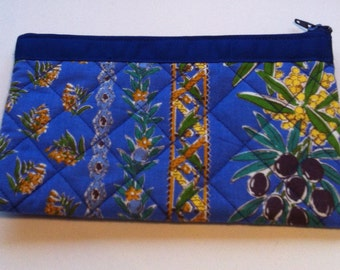 Blue Provence fabric pouch