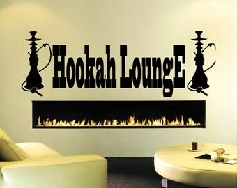 Hookah wall decal etsy - Shisha bar dekoration ...
