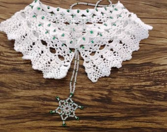 "Crochet Pattern Collar ""Snowwhite"""