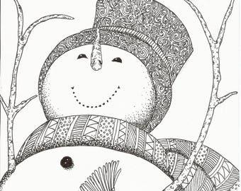 Fancy Snowman