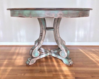 SOLD Coastal Chic Dining Table
