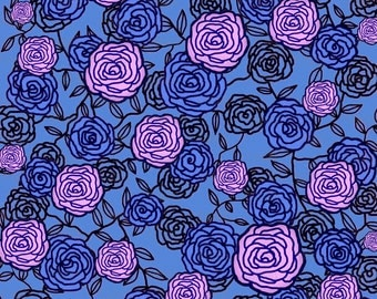 Climbing Roses 2 Fabric by Maryartdecor