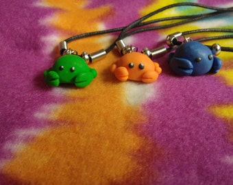 3pc Crab Polymer Clay Pendants