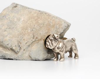 Vakkancs English Bulldog pin (solid bronze)