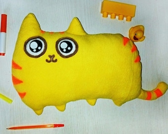 Bright soft cat toy from fleece